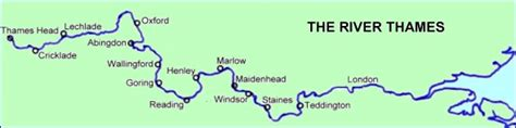 map of river thames from source to mouth hike the thames path from oxford to tower bridge in london