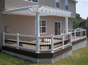 Photos Of Pergolas On Decks by Decks With Pergolas Deck Construction Decks R Us