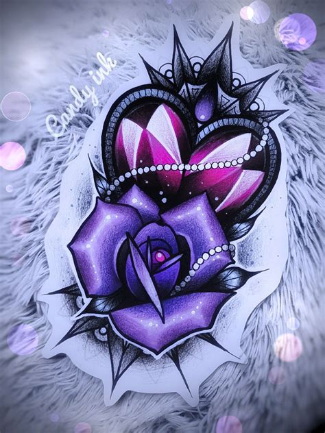 girly rose tattoo designs neo traditional girly