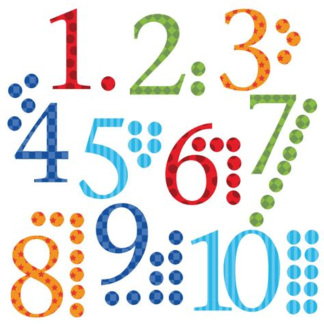 number wall stickers childrens number wall stickers with counters by kidscapes notonthehighstreet