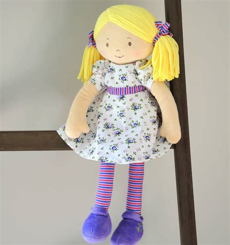 rag doll not on the high babies personalised peggy rag doll by the alphabet gift