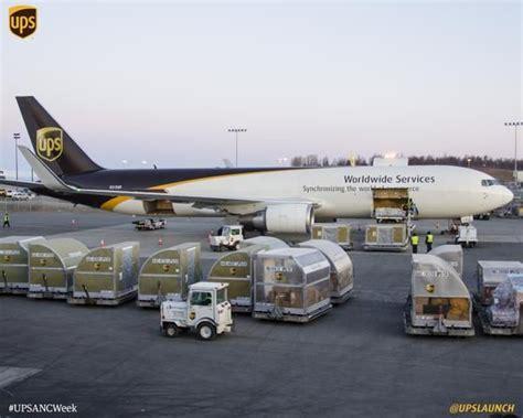 ups cargo plane at anchorage alaska usa ups united parcel service planes