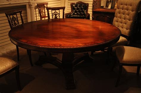 72 inch mahogany pedestal table empire or regency
