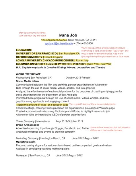 entry level marketing resume sles sales r 233 sum 233 teardown less is more aftercollege