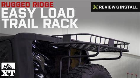 jeep trail rack jeep wrangler rugged ridge easy load trail rack 1987 2002