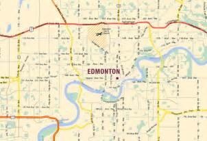 edmonton map of canada edmonton map