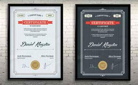 10 Sets Of Free Certificate Design Templates Designfreebies Free Psd Certificate Templates
