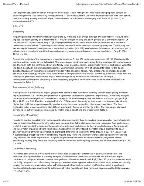 victim impact statement victim impact statement 2004