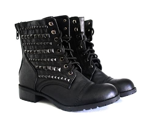 black master boot type 004 salem womens studded combat boots cr boot