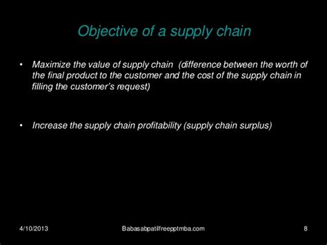 Mba Production Management by Supply Chain Management Mba 4 Sem Production Management
