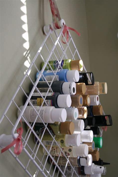 diy craft paint storage craft room organization pvc and wire shelf paint storage