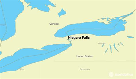 america map niagara falls where is niagara falls on niagara falls ontario map