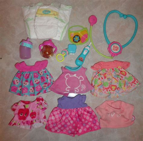 In The Bottle By Maxcyber Cloth baby alive clothes lot a dress clothes bottle bib rattle