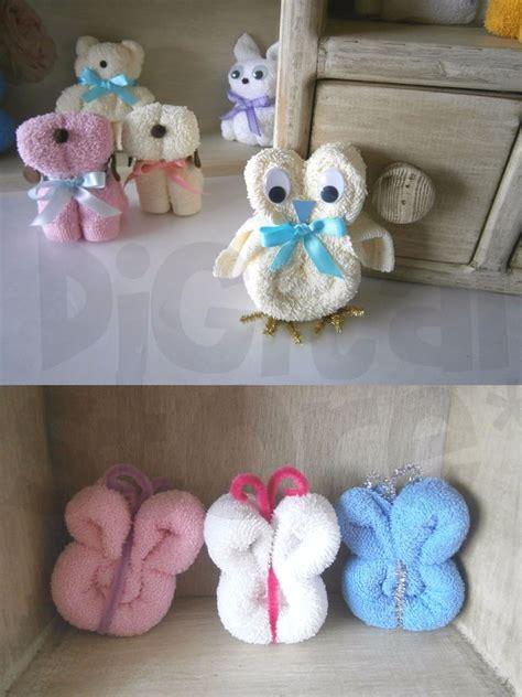 velas hechas con toallas faciales para recuerdos de bautizo o primera comunion recuerdos para bautizo manualidades con toallas recuerdos de toalla figuras baby shower