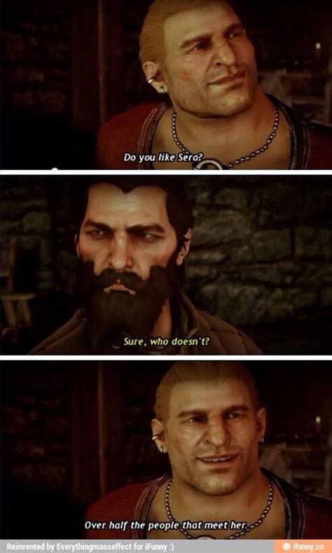 Oooh Burn Meme - yep oooh burn i love you sera i get it dragon age