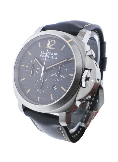 Luminor Panerai Chrono Leather 2 pam00356 panerai chronograph 44mm daylight models essential watches