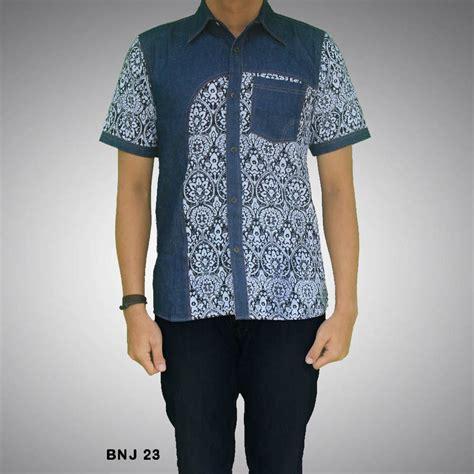 kemeja batik pria kombinasi bnj 23