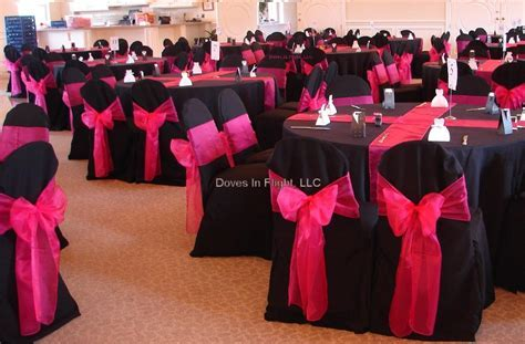 Ideas for Black/Hot Pink and bling wedding colors