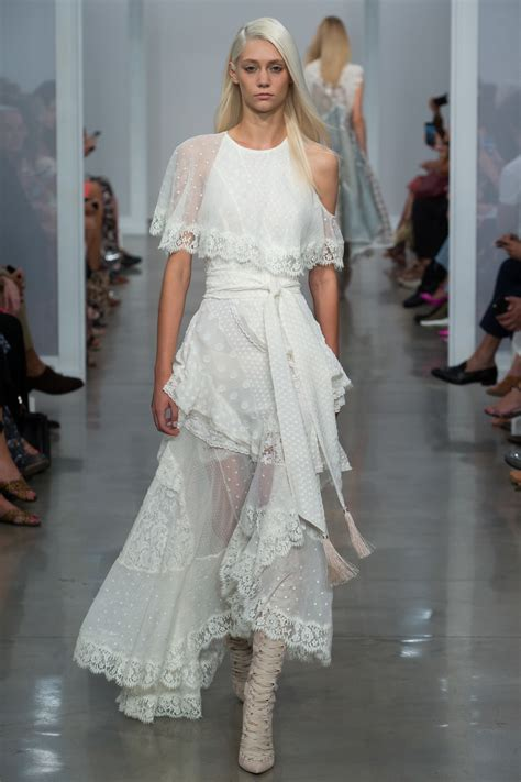 Chanel Garment Shofjeans 27 30 cara delevingne is ethereal in wedding dress at chanel show in wedding dress ideas