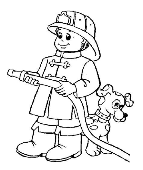 Firefighter Coloring Pages For Kids Az Coloring Pages Fireman Coloring Pages