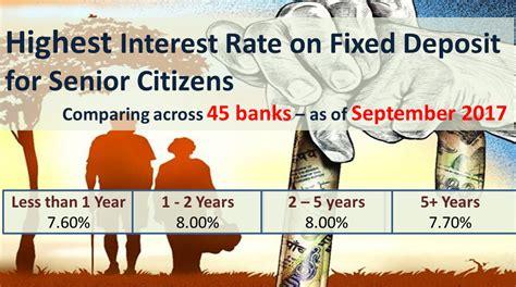 best fixed deposit best bank fixed deposit fd rates september 2017 autos post