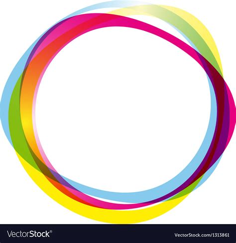 Colourful I Ring colorful ring logo royalty free vector image vectorstock