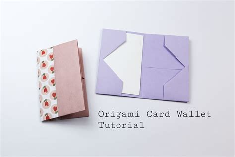 How To Make A Paper Card Holder - easy origami business card or wallet tutorial