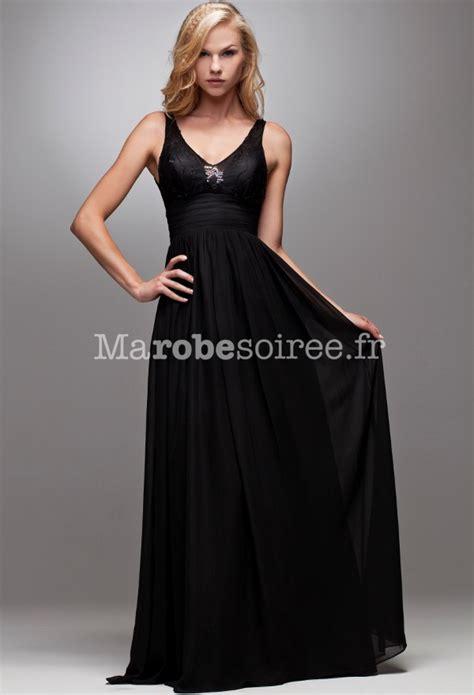 Robe De Bal Noir Longue - robe de soir 233 e carole longue 233 vas 233 e noir ceinture en forme