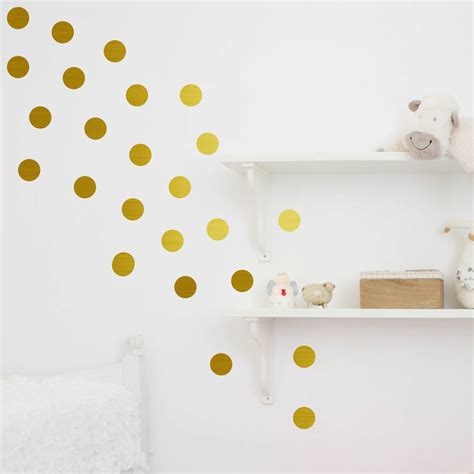 wall stickers dots metal effect confetti dots wall stickers by nutmeg notonthehighstreet