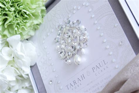 wedding invitations with crystals to bombay and pearl metallic boxed wedding