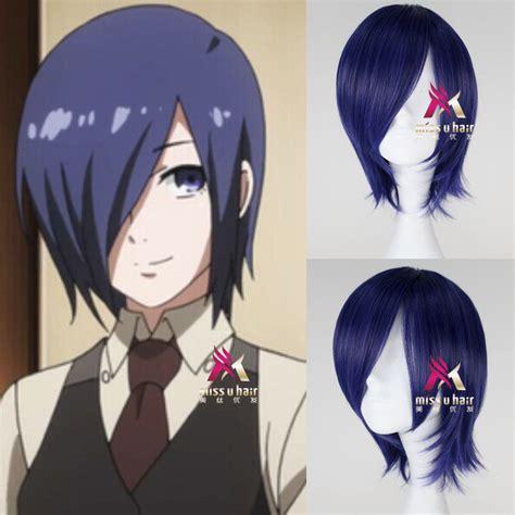 Wig Base Purple Wig Rize tokyo ghoul kirishima touka wig synthetic