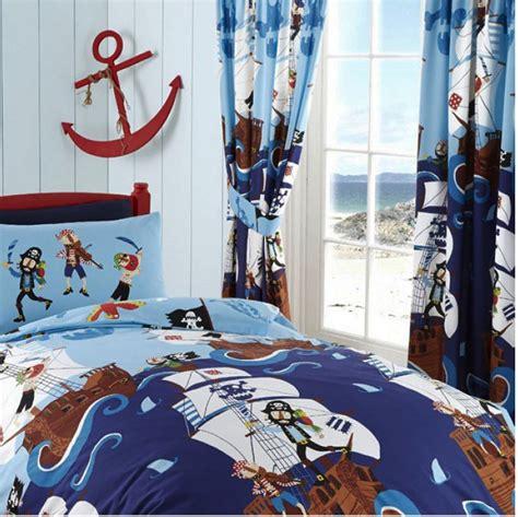piraten vorhang kinderzimmer gardine piraten schiff bettw 228 sche