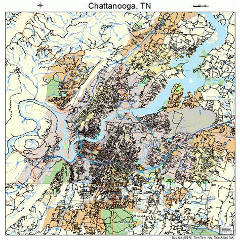 chattanooga map chattanooga tennessee map 4714000
