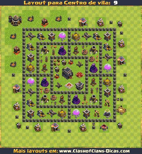 Layout Quadrado Cv 9 | layouts para cv9 em clash of clans atualizados clash