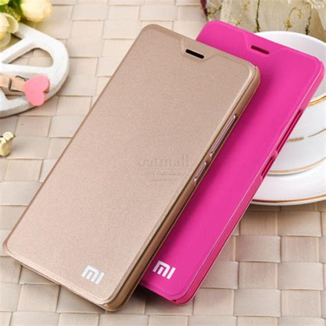 new luxury pu leather smart flip cover for xiaomi redmi
