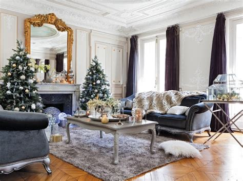 home design gold beautiful paris apartment decorated for christmas