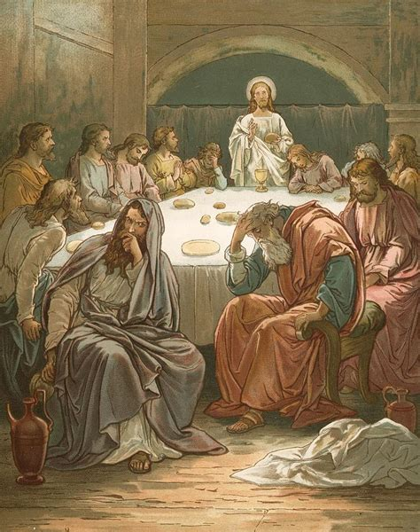 The Judas Sheep Large Print 16pt the last supper painting by lawson