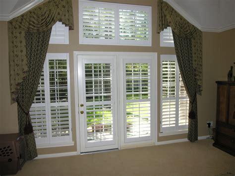 patio door plantation shutters for patio doors