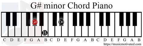 G# minor chord G Sharp Minor Chord Piano