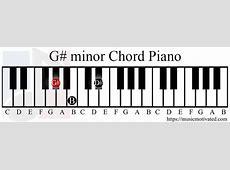 G# minor chord G Sharp Minor Piano Chord