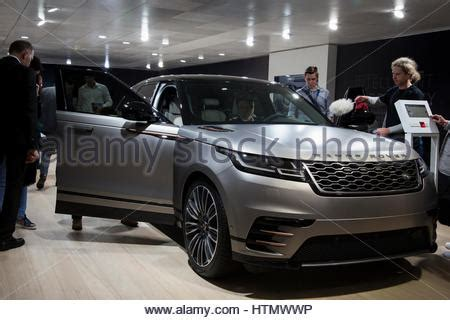 new land rover velar luxury suv on launch day at geneva