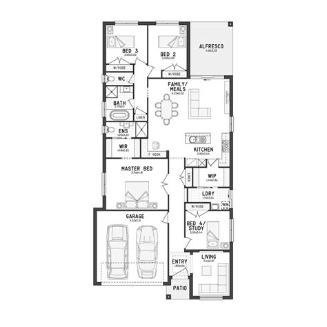 floor plans for single story homes single story house plans for narrow blocks escortsea