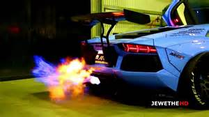 Exhaust System That Shoots Flames Modified Aventador Lp720 4 W Armytrix Exhaust Shooting