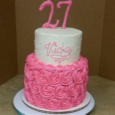 2 Tier Rosette Birthday Cake. Cake Decorating.   YouTube
