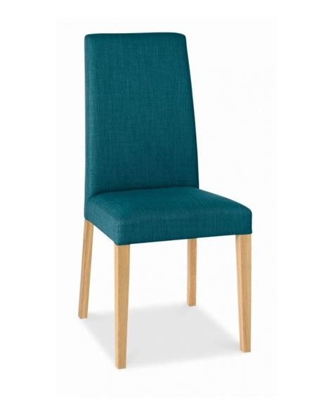 Teal Upholstered Dining Chairs Bentley Designs Oak Taper Back Teal Upholstered Dining Chair