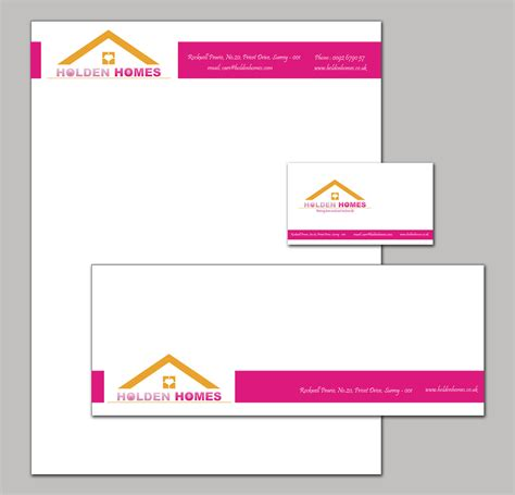 business letterhead and envelopes company branding stationary set with a letterhead envelope