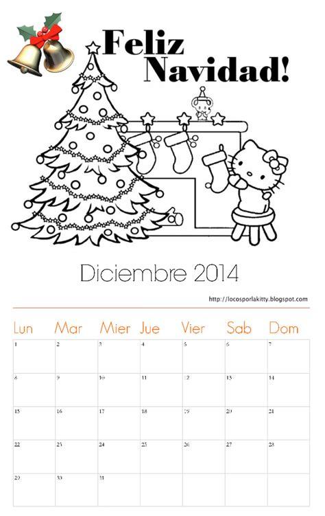 Calendario Diciembre 2014 Calendarios Diciembre 2014 Para Colorear Colorear Im 225 Genes