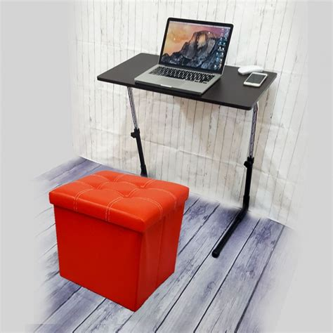 folding c stool with storage pu folding storage ottoman cube space organizer stool