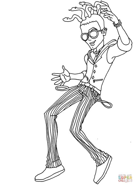 monster high gooliope jellington coloring pages deuce dance coloring page free printable coloring pages