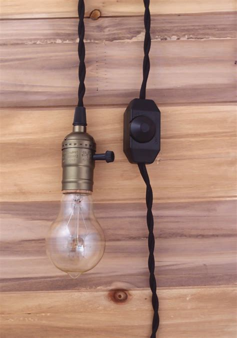 Pendant Light With Cord Single Copper Socket Vintage Pendant Light Cord W Dimmer 11 Ft Black Cloth Cord Ebay